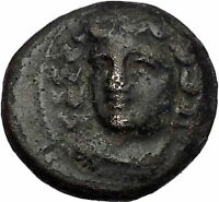LARISSA in THESSALY 300BC Nymph Horseman Authentic Ancient Greek Coin i56209