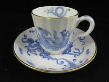 Vtg Royal Worcester - Blue Dragon - Tea Coffee Cup and Saucer Set - England