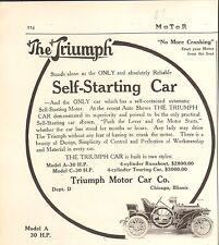 1907 TRIUMPH CAR ORIG VINT  CAR AD