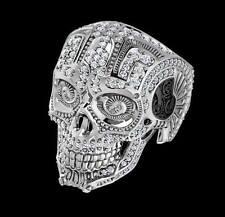 Popular Unisex Xxl Big Skull Crystal Diamond Skull Ring Gift 2.4 ct VVS1