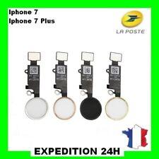 BOUTON HOME IPHONE 7 7 Plus Noir / Blanc / Or / Rose + nappe Top Qualité