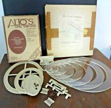 Alto's EZ Mat Oval & Circle Cutter Templates Kit Cutter Spacers Line Guides Etc