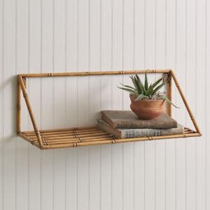 Metal Bamboo Wall Shelf