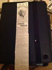 B1-3 Ephemera 1961 Barbara Windsor Actress Singer Releases Ten Gallon Hat