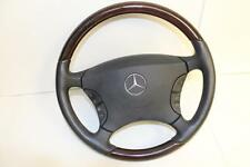 00-06 MERCEDES BENZ W220 W215 CL500 DRIVER woodgrain STEERING WHEEL AIRBAG S500