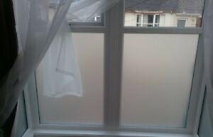 Bathroom Frosted Window Film With Air Release Technology Easy Installation