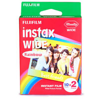 Rainbow Fujifilm  Mini Instant Film Wide 20 Sheets For 300 200 210 100 500AF
