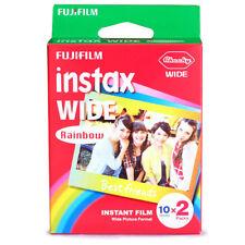 Rainbow Fujifilm  Mini Instant Film Wide 20 Sheets For 300 200 210 100 500AF