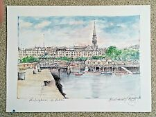 Dun Laoghaire, Co. Dublin (From The Pier) Artist's Proof Print Very Collectable