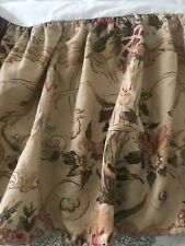 "Ralph Lauren Guinevere Medieval Floral King Size Ruffled  Bedskirt 15"" Drop"