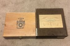 ONE PUNCH GRAN CHU # 11 and  ONE KRISTOFF  WOOD CIGAR BOXES