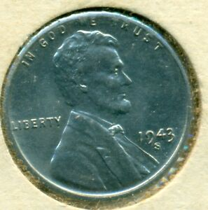 1943-S LINCOLN CENT, CHOICE BRILLIANT UNCIRCULATED, GREAT PRICE!