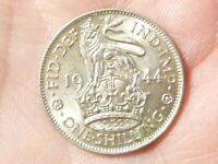 1944 Shilling George VI Nice Grade English Arms HIGH GRADE  #M63