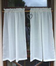 GARDINEN 2 SCHALS LANDHAUS CREME  je 80 cm x 105 cm Maße auch nach Wunsch