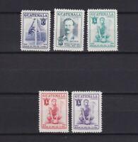 GUATEMALA 1955-1956, Sc #355-359, Football, Soccer, sport, MH/MNH