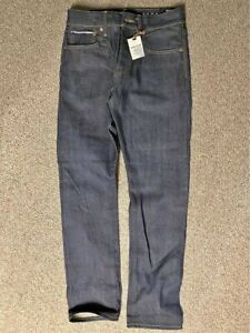 New NWT Gap 1969 Selvedge Raw Indigo Japanese Straight Denim Jeans Mens 28x30
