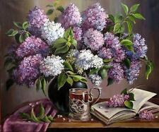 Chart Needlework Crafts DIY Counted Cross Stitch Patterns PDF - Tea with Lilacs