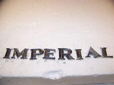 1964 1965 1966 CHRYSLER IMPERIAL TRUNK LID EMBLEMS OEM