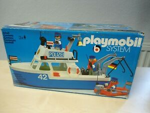 "Playmobil Klicky Set 3539 ""Polizeiboot""   NEU"