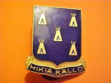 US Military 378th Infantry DUI DI Pin Clutchback Crest Medal Badge G840