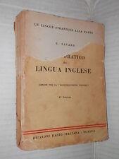 CORSO PRATICO DI LINGUA INGLESE E Favara Edizione Radio Italiana 1954 libro di