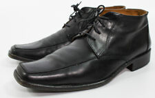 Vero Cuoio Black Leather Ankle Boots Men's Size 41 Made in Italy