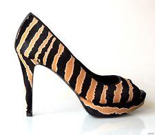 new $795 GUCCI 'Betty' open-toe pony hair platform heels shoes 36 6 - SEXY ZEBRA