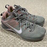 Nike Metcon Flyknit 2 Womens Cross Training Shoes 924595 Matte Silver Pink Sz 11