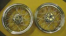 Chrome Spoke Laced Wheels fits Harley FLST - FATBOY 00-05