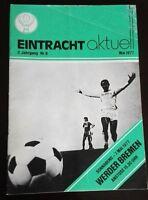 Orig. Programm 7.5.1977 Eintracht Braunschweig SV Werder Bremen BTSV Stadionheft