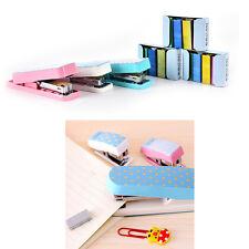 New Cute Candy Color School Office Mini Stapler Book Sewer Geometric Stapler SE