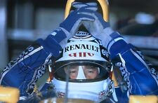 Nigel Mansell Hand Signed Canon Williams Renault 18x12 Photo F1 10.