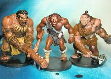 Dungeons & Dragons Miniatures Lot  Hill Giant Chieftain Trio !!  s116