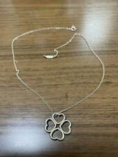"""Tiffany & Co. Necklace Sterling Silver 925 Heart and Clover Pendant 16"""" Used 3"""