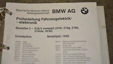 BMW E36 Prüfanleitung Fahrzeugelektrik Elektronik Schaltplände
