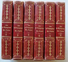 Les Jeunes Voyageurs en France 6 Tomes DEPPING éd E Ledoux 1834 104 gravures