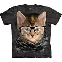 Hipster Kitten Shirt, Mountain Brand, In Stock, cat gifts, Small - 5X, graphic