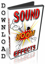 SOUND EFFECTS- FX- OVER 8,700+ PROFESSIONAL EFFECTS- DVD - WAV SAMPLES- DOWNLOAD