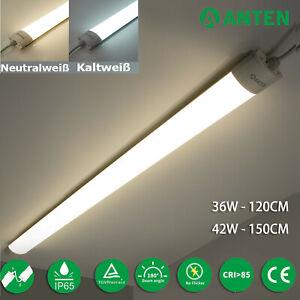 Feuchtraumleuchte Feuchtraumlampe  LED Röhre Wannenleuchte Keller Werkstatt