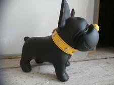 Statuette tirelire chien Bulldog bully noir collier pup's banker Semik design