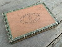 Collectable Vintage Wooden Wills's Whiffs Cigar Box with Hinged Lid