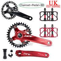 MTB Bike Chainset 104bcd Crank Arm Bicycle Pedal BB 32/34/36/38T Chainring CNC