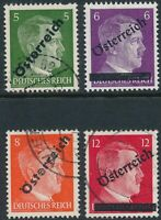 Stamp Austria SC 390-3 1945 WWII Adolf Hitler Used