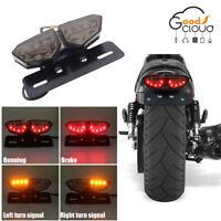 Universal Motorcycle Bike LED Stop Brake License Plate Rear Tail lamp Smoke Lens
