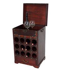 Portabottiglie cantinetta vino per 12 bottiglie+cassetto+vano 38x47x69cm