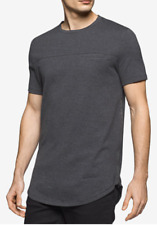 Calvin Klein Men's Side-Zip Cotton T-Shirt, Black Grindle, Size XXL, MSRP $49