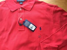 Polo Ralph Lauren Longsleeve Mesh RL Red Polo Shirt LT Tall Men $95FreeShip
