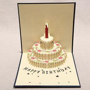 3D Handwork Greeting Card Happy Birthday Valentine's Thank You Red/Black 13*16cm