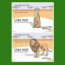 Lies mal - Hefte 5 und 6 (Paket) Heft mit dem Erdmännchen + Löwen