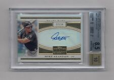 MIKE GIANCARLO STANTON 2012 TOPPS TRIBUTE AUTO #12/24 MARLINS BGS 8.5 10